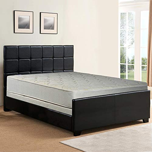 - Spring Sleep 9-Inch Gentle Firm Tight top Innerspring Mattress And Wood Traditional Box Spring/Foundation Set, Good For The Back, No Assembly Required, Full Size 74