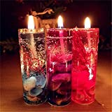 DeemoShop 1Pc Aromatherapy Smokeless Candles Ocean Shells Valentines Scented Jelly Candle