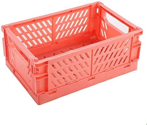 BAREGO Cajas Cesta de Almacenamiento Plegables de Plástico (Rosa ...