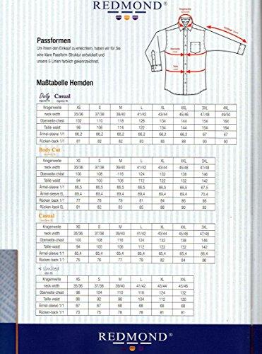 REDMOND Body Cut Uomini Camicia per ufficio no stiro blu scuro 43/44