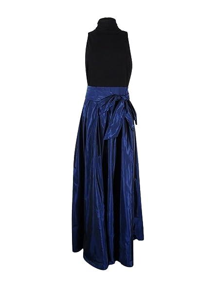 Lauren by Ralph Lauren Womens Yuliana Colorblock Wrap Formal Dress ...