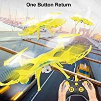 30 Million WiFi Aircraft,Hongxin 2.4Ghz Quadcopter Camera WIFI FPV Headless Mode Altitude Hold RC Drone(Yellow)