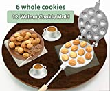 Walnut 12 Cookie Mold (Oreshek) Maker Oreshki