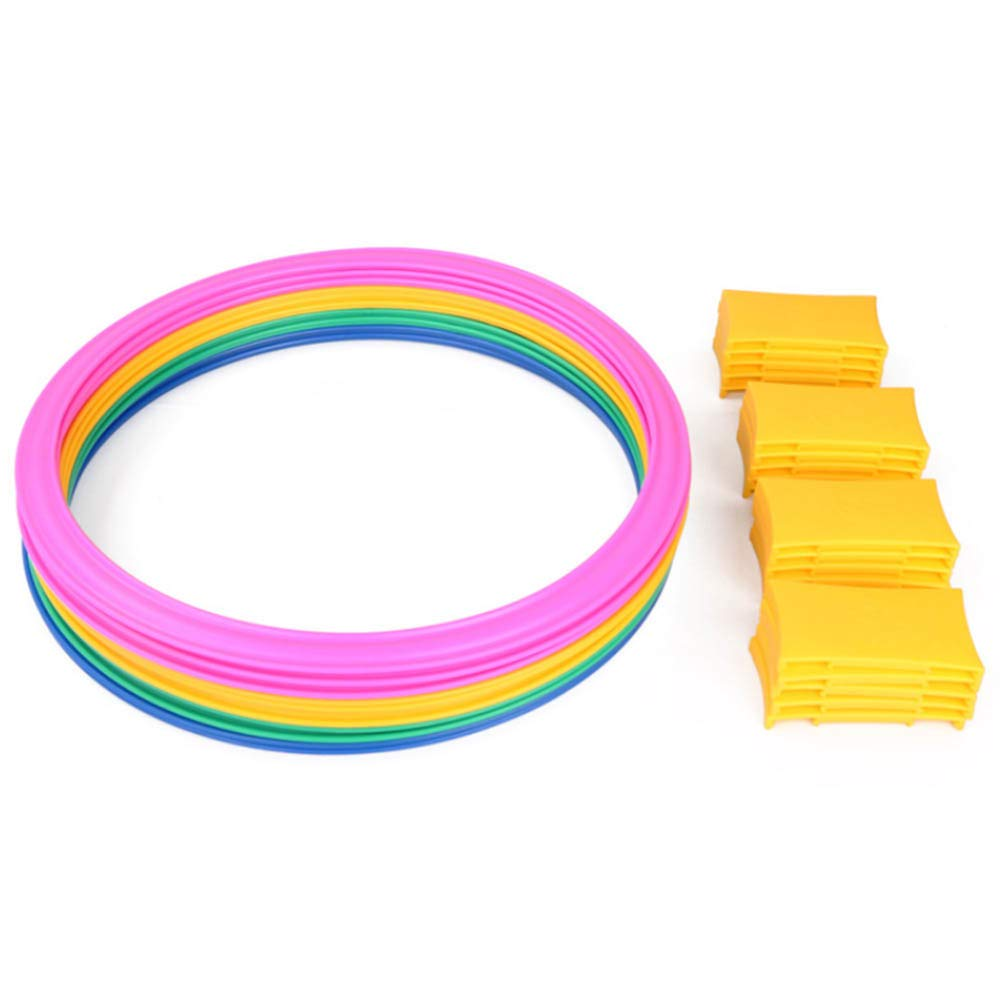 TAKEFUNS 10PCS Hopscotch Ring Clips Toys Set,Indoor Play Game Complete,Kindergarten Teaching Aids for Kids-18.8