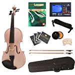 Cecilio-CVN-Pink-Ebony-Fitted-Solid-Wood-Violin-with-Tuner-and-Lesson-Book-Metallic-Pink-Size-44-Full-Size