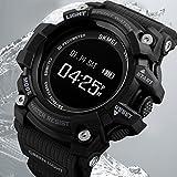 BDQFEI Waterproof Smart Watch Pedometers Heart Rate Multifunction Student Sports Watch (black)