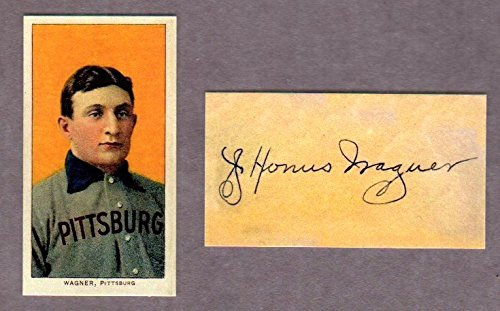 Honus Wagner 1909 T206 Tobacco Reprint Card (w/ Facsimile Signature on back of card) (In it own plastic case) (The Famous T206 Wagner) (Pittsburgh Pirates)