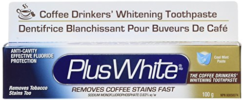 Plus White The Coffee Drinkers Whitening Toothpaste, Cool Mint Flavor, 3.5 Ounce Coffee Drinkers Whitening Toothpaste