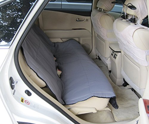 Yes4All PJLZ Waterproof Back Seat Cover for Pets Padded & Quilted-MD-257, Gray