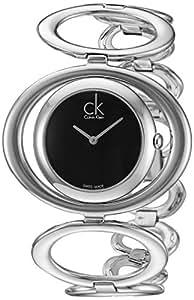 Calvin Klein K1P23102 - Reloj de mujer de cuarzo, correa de acero inoxidable color plata