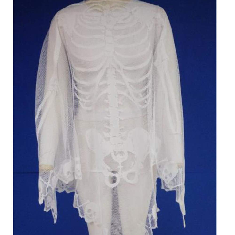 Amazon.com: UMFun - Chal de encaje para Halloween, diseño de ...