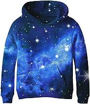 SAYM Teen Boys' Galaxy Fleece Sweatshirts Pocket Pullover Hoodies 4