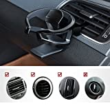 UMISKY Car Cup Holder, Adjustable Car Air Vent Cup Mount, Universal Smart Drink Clip-on Holder Soft Drink Water Coffee Bottle Stand (Black)