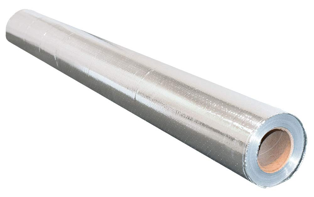NASATECH 500sqft Radiant Barrier Reflective Foil Insulation (4ft x 125ft Roll) Industrial Strength Commercial Grade No Tear Double Sided Perforated Aluminum for Attic Insulation Residential Commercial by US Energy Products