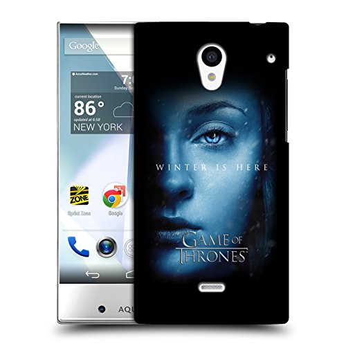 Official HBO Game Of Thrones Sansa Stark Winter Is Here Hard Back Case for Sharp Aquos Crystal 305SH