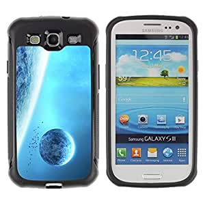 LASTONE PHONE CASE / Suave Silicona Caso Carcasa de Caucho Funda para Samsung Galaxy S3 I9300 / Blue Planets Giant Space Sky Universe Alien