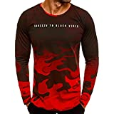 Willsa Mens Shirts, Fashion Camouflage Casual Long Sleeve T Shirt Tops Outdoors Sweatshirt