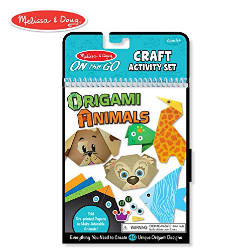 - Melissa & Doug On the Go Origami Animals Craft Activity Set - 38 Stickers, 40 Origami Papers