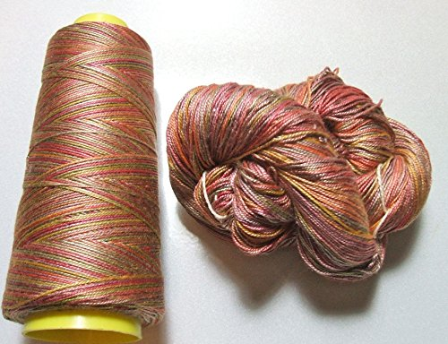 Silk Lace Yarn - 100% Mulberry Queen Silk Yarn 50 Gram 3 Ply Lace Weight Desert Morning QS023 Lot G Cone or Hank