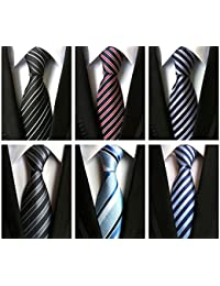 Men's Classic Neckties Woven Jacquard Polyester Silk Neck Ties Set