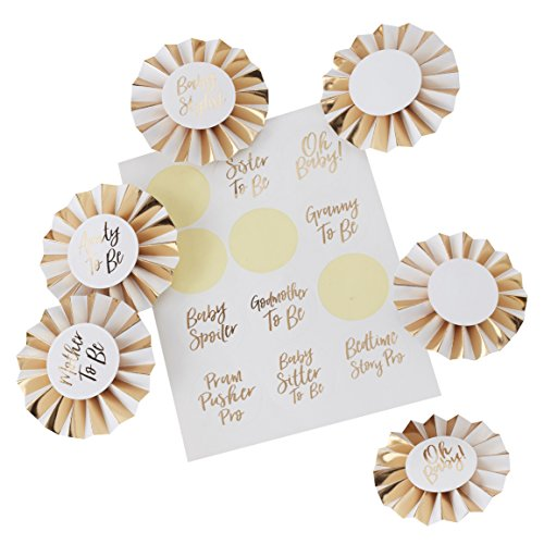 Ginger Ray OB-113 Baby Shower Fun Party Badge Kit (6Piece)