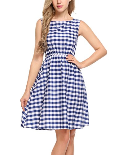 Plaid And Floral Dress - 8