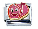 Clearly Charming Mailbox with Happy Face Italian Charm Bracelet Link