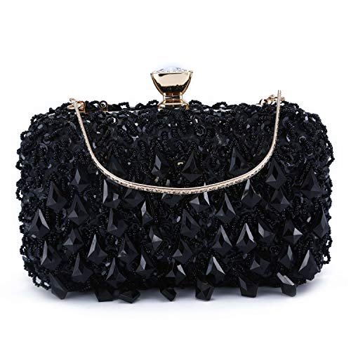 UBORSE Women Clutch Wedding Purse Rhinestone Crystal Beaded Bags Cocktail Party Bridal Prom Handbag for Women