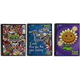 Assortment of 3 Plants Vs Zombies Spiral NoteBooks