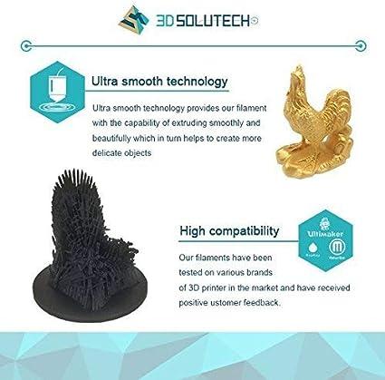 1.0KG 2.2 LBS 3D Solutech Natural Clear 3D Printer Masterspool PLA Filament 1.75MM