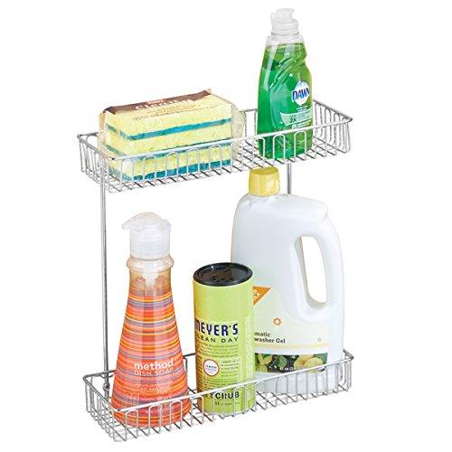 mDesign Under-Sink Storage Organizer Shelf