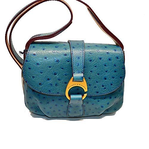Dooney & Bourke Derby Ostrich Small Flap Crossbody Shoulder Bag