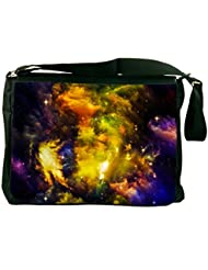 Rikki Knight Big Bang Universe Alien Arrangement Nebula Design Messenger Bag - Shoulder Bag - School Bag for School...