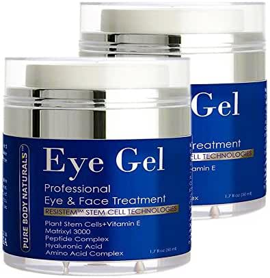 Pure Body Naturals Eye Cream for Dark Circles and Puffiness - 1.7 fl oz - 2 Pack