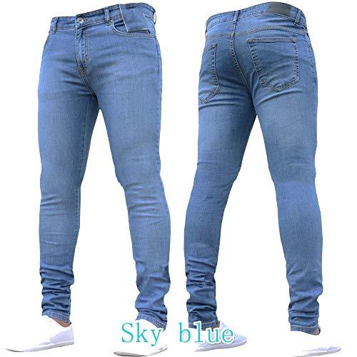 M Recto Extremo Mezclilla Cónica Size Moderna Light Movimiento Elástica Blue Corte Para Blue Serie Hombres Pantalones De Havanadd Fuerza Con color La Los Pierna YR1nqW8pPx