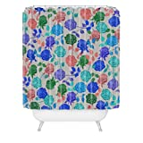 Deny Designs Bianca Green Roses Blue Shower Curtain, 69'' x 72''