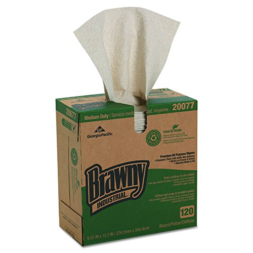 Georgia Pacific Professional 20077 Brawny Industrial Med Duty Premium Drc Wipers  12 2 10X9 1 4  120 Per Box  Case Of 10