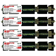Komputerbay 16GB (4x 4GB) DDR2 PC2-6400F 800MHz ECC Fully Buffered FB-DIMM (240 PIN) 16 GB w/ MAC Heatspreaders RAM Memory APPLE MAC PRO 2008 3,1 (2.8 3.0 3.2) (DDR2 800MHz PC2-6400 ECC FBDIMM)