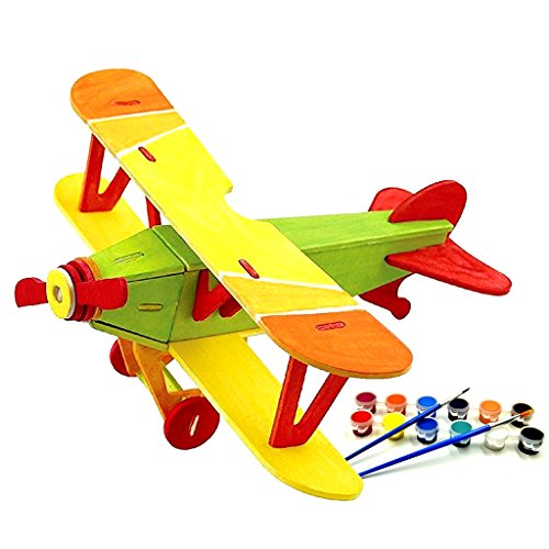 Wood 3D Jigsaw Puzzle DIY Model Water Plane - 1