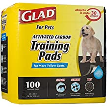 Glad for Pets Black Charcoal Puppy Pads   Puppy Potty Training Pads That ABSORB & NEUTRALIZE Urine Instantly   New & Improved Quality, 100 count