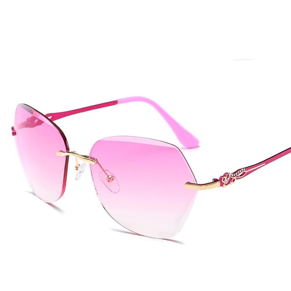 Frauen-Sonnenbrille Rahmen aus Metall fein malen Brillen ...