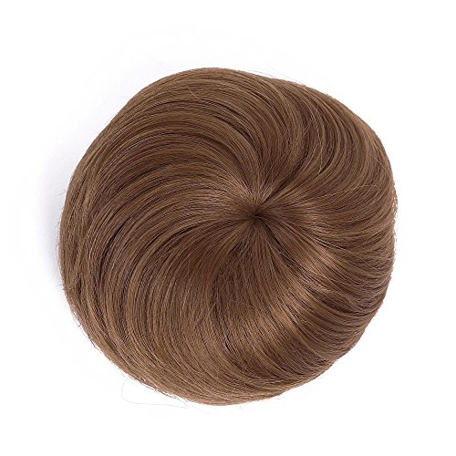 Bonded Shell Color - IebeautyGirls Women Hair Donut Up Dish Hair Bun Extension Ponytail Hairpiece Scrunchie (light brown)