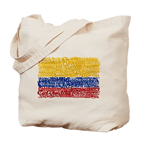 (CafePress Textual Colombia Natural Canvas Tote Bag, Cloth Shopping)