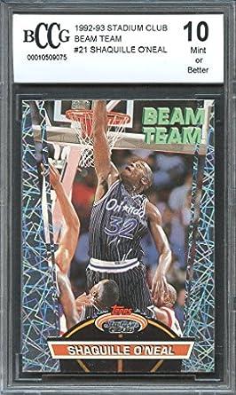 Amazoncom 1992 93 Stadium Club Beam Team 21 Shaquille O