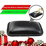 Mouse Wrist Rest Pad - Mouse Pad with Wrist Support for Office,Laptop, Computer & Mac,Non-Slip PU Base and Memory Foam Inside- Durable & Lightweight for Wrist Pain Relief - Black