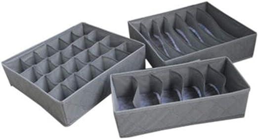 Yanyuyu Cajas almacenaje Ropa Organizador de cajones Ropa Interior ...