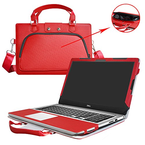 (Ideapad 320 15/520 15 Case,2 in 1 Accurately Designed Protective PU Cover +Portable Carrying Bag for 15.6