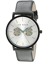 Ted Baker Mens TE1095 Smart Casual Round Black Multi-Function Light Grey Strap Watch