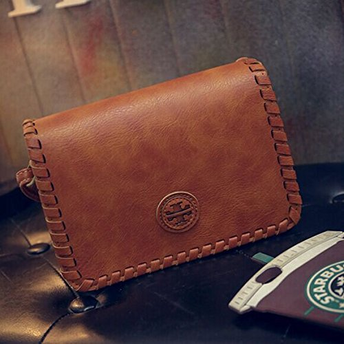 messenger diagonal Brown tejida diagonal Hombro de coreano paquete paquete bolso bolso Light moda retro rojo APqw8W6Hq