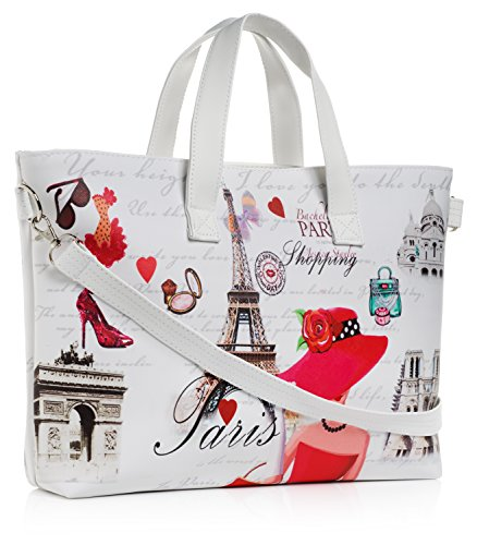 Paris Tote Bag with adjustable and removable cross body strap
